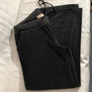 Michael  Kors Sweatpants  -SzLg  grey velour  EUC